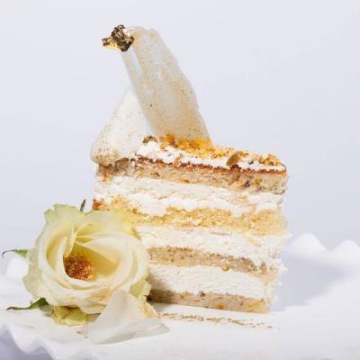 Pearl Maison - Pistachio French vanilla mousse cake