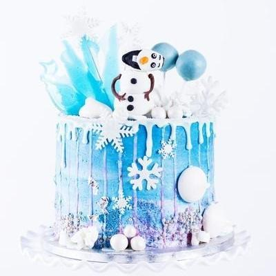 Frozen drizzle drip cake