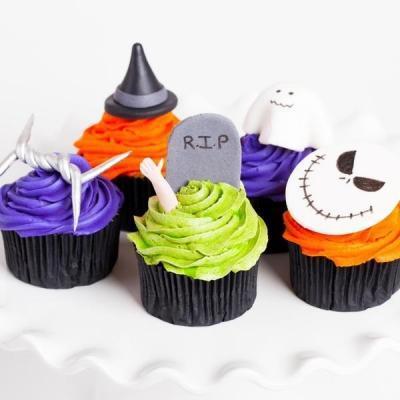 Halloween Cupcake x 6